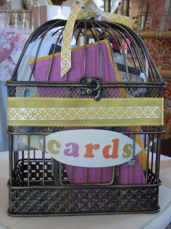 Birdcage envelope holder