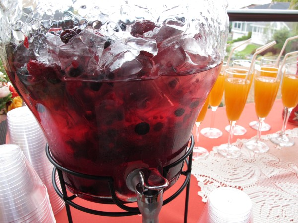 Fruit punch and mimosas