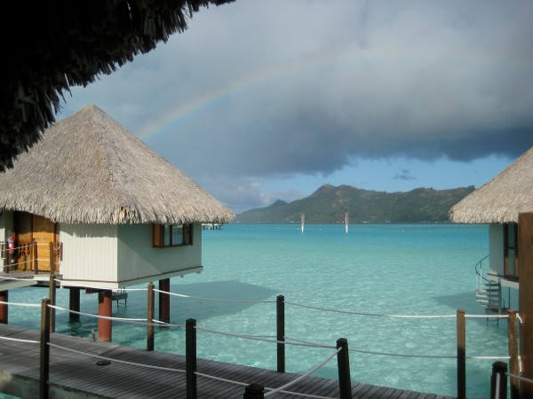 Rainbow in Bora Bora