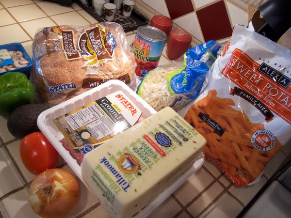 Ingredients for Turkey Burger