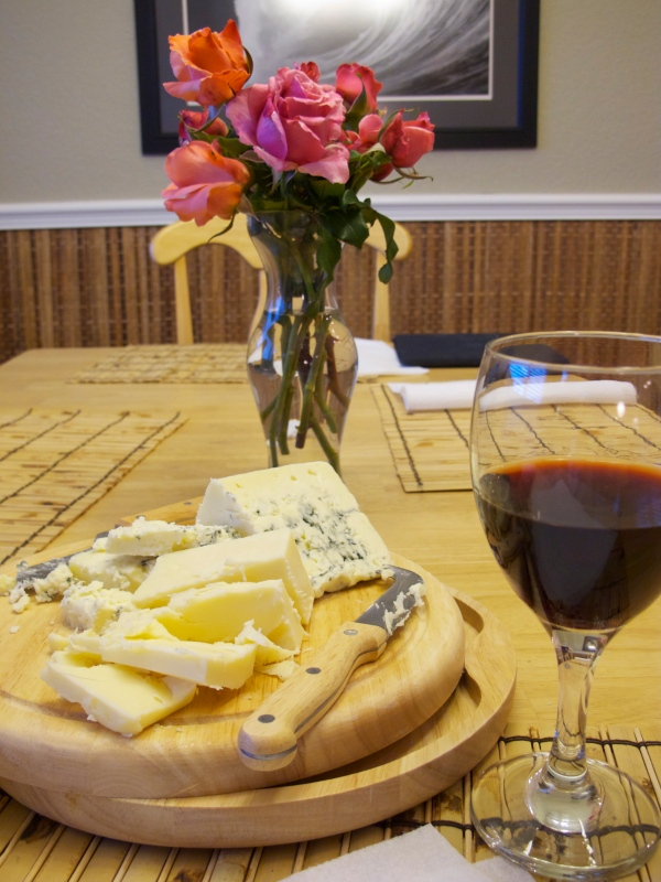Wine and cheese with friends