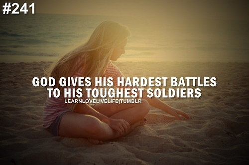 Hard battles, tough soldiers