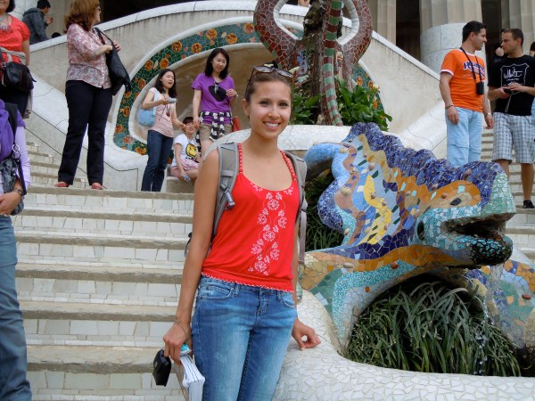 Barcelona, Park Guell by Antonio Gaudi