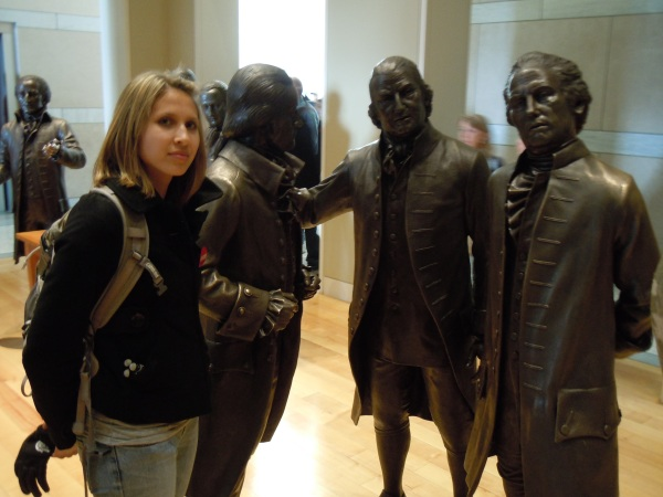 Taking pictures with Statues