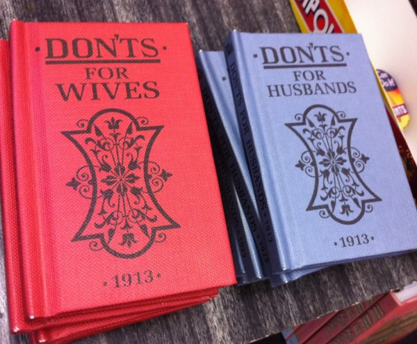 Book of Don'ts for wives and husbands