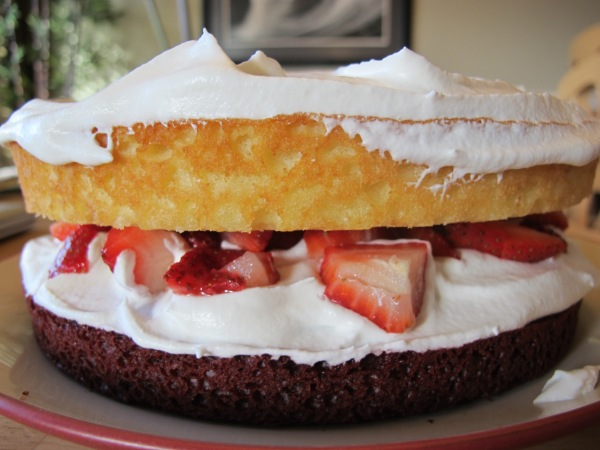 Easy red velvet strawberry shortcake!