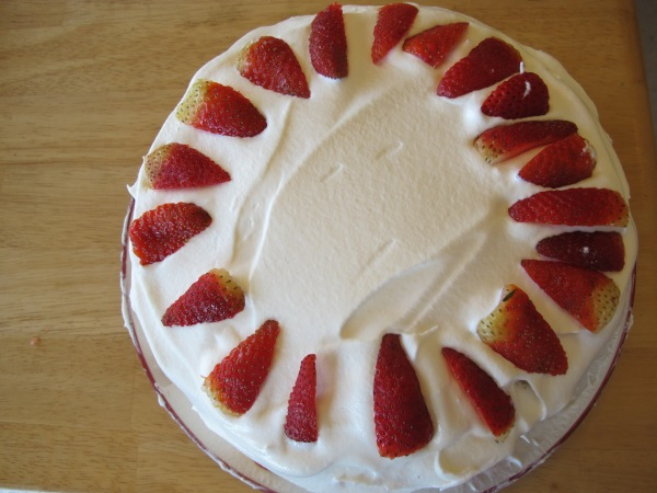Red velvet strawberry shortcake