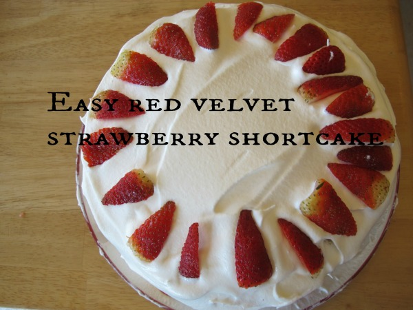 REd Velvet strawberry shortcake