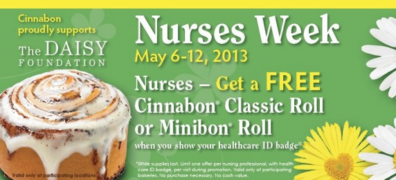 Nurses week Cinnabon