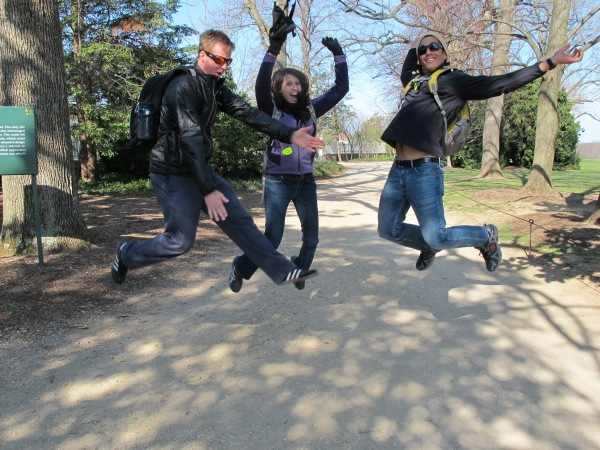 Jumping at Mount Vernon